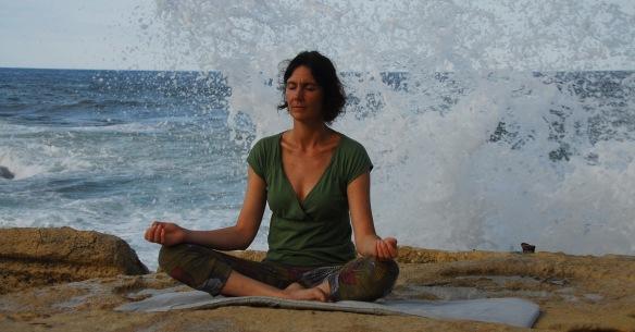 Meditating on Sliema seafront, Malta